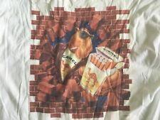 VINTAGE JOE CAMEL BRICK WALL CIGARETTES 91 RARE USA POCKETED T-Shirt XL VTG VG+