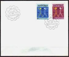 Kuwait 1970 FDC Mi.523/24 Year against Racism Anti-Rassismus [ca140]