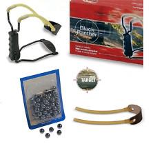 kit fionda professionale 100 sfere elastico ricambi 423100 catapulta potente tp
