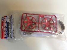 Tamiya 54551 rosso placcato 2-Piece 6-Spoke Ruote (26mm larghezza, offset + 2)