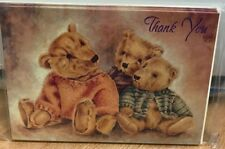 Stationery Thank You Cards Teddy Bears Pack of 6