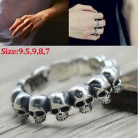 925 Sterling Silber Skelettmodell Männer Schädel Skeleton Ring Punk
