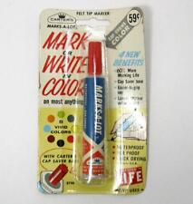 New listing Vtg Carters Marks-A-Lot Metal Marker Nos Red On Card Small 1960s Felt Usa Old
