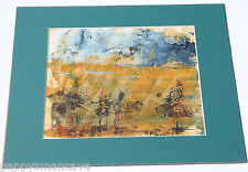 ORIGINAL ERLEND JACQUES FREDRICKSON WATER COLOR SON OF LYDER FREDRICKSON