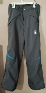 Spyder Thinsulate Girls Ski Pants Grey Size 16