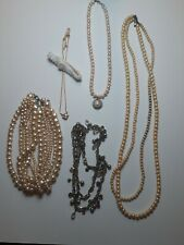 Nice Lot of Vintage to Modern Fashion Costume Jewelry All Wearable Pearls 008