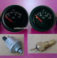 El Gauge 52mm Oil Temp Gauge Oil Pressure Gauge 10 Bar With Sender