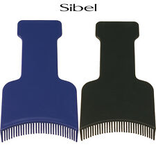 Sibel Professional TOOTHED Highlighting Spatula With Wide End For Hairdressing