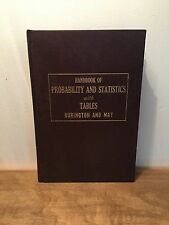 Handbook of Probability and Statistics with Tables: Burlington And May (1958) HC