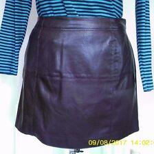 RIVER ISLAND Wine Faux Leather PVC MINI SKIRT M uk14eu40us10 Waist w32ins w81cm