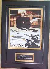 SIGNED VERA DAY LOCK STOCK AND TWO SMOKING BARRELS MOUNTED PHOTO WITH COA
