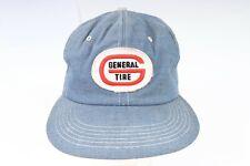 Vintage K-BRAND GENERAL TIRE Denim Snapback Hat USA Mens One Size
