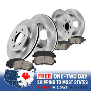 For 2006 2007 2008 2009 2010 Hummer H3 H3T Front And Rear Rotors & Ceramic Pads