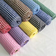 "1/4"" Gingham Check Polycotton Fabric Dress, Craft per Metre 45"" - 114cm Width"