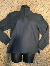 THE NORTH FACE Sz L Womens Long Sleeve 1/4 Zip Blue Pull Over Sweater Shirt AL7