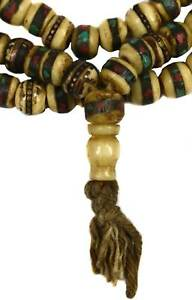 Tibetan Bone Mala Buddhist Prayer Beads 25 Inch SALE WAS $35.00