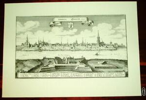 Emmerich alte Ansicht Merian Druck Stich 1650 Städteansicht Nordrhein-Westfalen