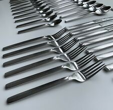 Habitat High Quality Satin (Brushed Stainless Steel) 49 Piece Cutlery Set.