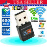 600Mbps Dual Band Wireless WiFi USB Adapter 802.11AC For PC Network 2.4 / 5.8Ghz