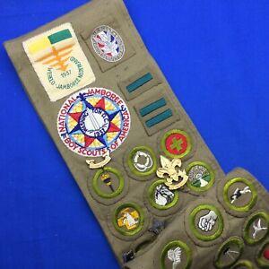 Boy Scout Sash 1937 National & World Jamboree Camp Wolfboro Eagle Scout Pins MB