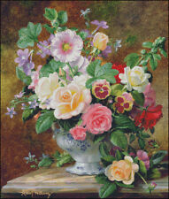 Needlework Crafts Embroidery DIY Counted Cross Stitch Kits Roses Pansies