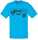 Eat Sleep Hide derrière Daryl, The Walking Dead inspiré homme imprimé T-shirt