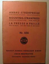 Betriebsanleitung und Ersatzteilliste für Raussendorf-Anbau-Strohpresse 656