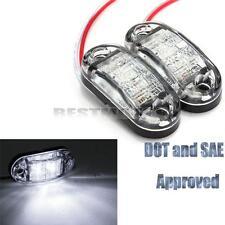 2x LED White Side Marker Clearance Light Lamp Car Truck Trailer Caravan 12V