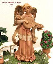 "Fontanini Depose Italy 6.5"" Rare Angel Playing Mandolin Nativity Figure Spider"