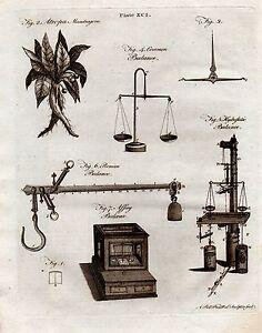 1797 Georgianisch Aufdruck ~ Balance Römische Feder Hydrostatisch Common ~