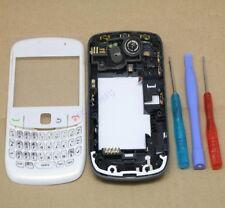 Completo blanco carcasa funda para Blackberry Curve 8520 Fascia Frontal Nuevo Hq