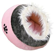 NEW Cat Kitten Plush Cushy Cave Cat - Bed Pink Grey For Cats