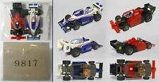 1995 TYCO RENAULT 0 & TYCO 8 F-1 INDY Slot Car Free Rolling Pair 9817 Rare PROMO