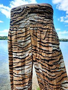 Freizeithose Strandhose Stoffhose Sommer-Hose Haremshose Pumphose Tiger Muster