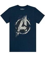 """Marvel Avengers """"A"""" End Game Men's Official Eroded Emblem T-shirt"""