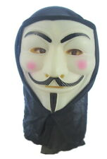 Halloween V For Vendetta PVC Mask with Hood Bonfire Night scare