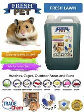 5L FRESH-PET FRESH LAWN - Rodent Specialist Disinfectant Rabbit Hutch Cage Runs