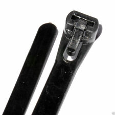 Black Reusable Resealable Cable Ties 7 x 200mm 8 Inch Pack of 100