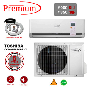 9000 BTU Air Conditioner Mini Split System Ductless AC Only Cold 220V