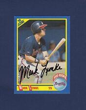 Mark Lemke signed Atlanta Braves 1990 Score Rookie Card
