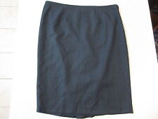 Women's REVIEW Size 12 AU Mini Skirt Black Near New Frilly Lined Striped Work