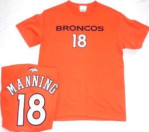 Denver Broncos Football Peyton Manning Youth Short Sleeve T-Shirt Orange