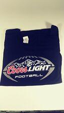 Coors Light Football Black T-Shirt Men's Size Large