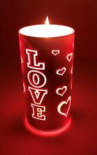 American Star Love LED Valentine Candles/Flickering Flameless/Pink Red Hearts/Ro