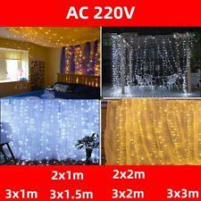 Christmas Fairy Lights LED Curtain 3x3 220v Icicle Bedroom Party Garden Decor