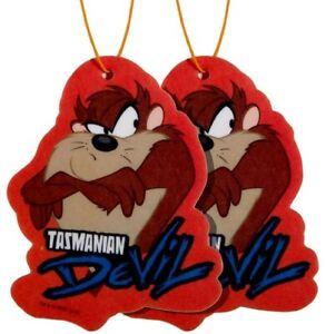 TAZ-MANIA Taz Cartoon Car Mirror Hanging Fragrance Charming Scents LAVENDER 2pcs