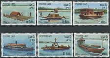 LAOS N°412/417** Navigation fluviale, bateaux TB, 1982 river vessels, boats MNH
