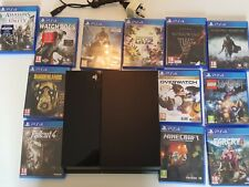 Sony Playstation PS4 console with 12 games
