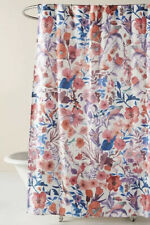 """NEW Anthropologie Alice Floral Bug Shower Curtain 72""""sq"""