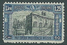 1928 REGNO MILIZIA 1,25 LIRE MNH ** - Y205-2